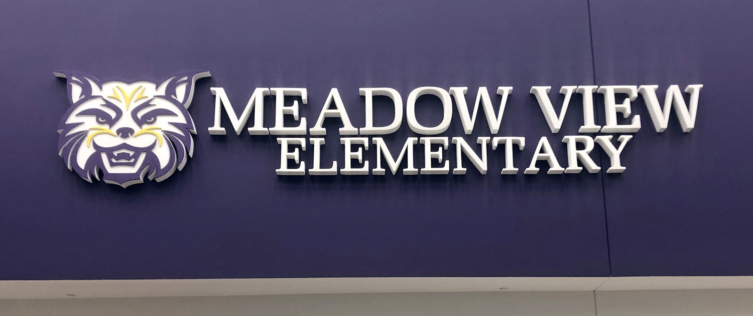 FASTSIGNS of Waukesha knew it needed lighter letters for the Meadow View Elementary project. The letters were constructed from sign foam.