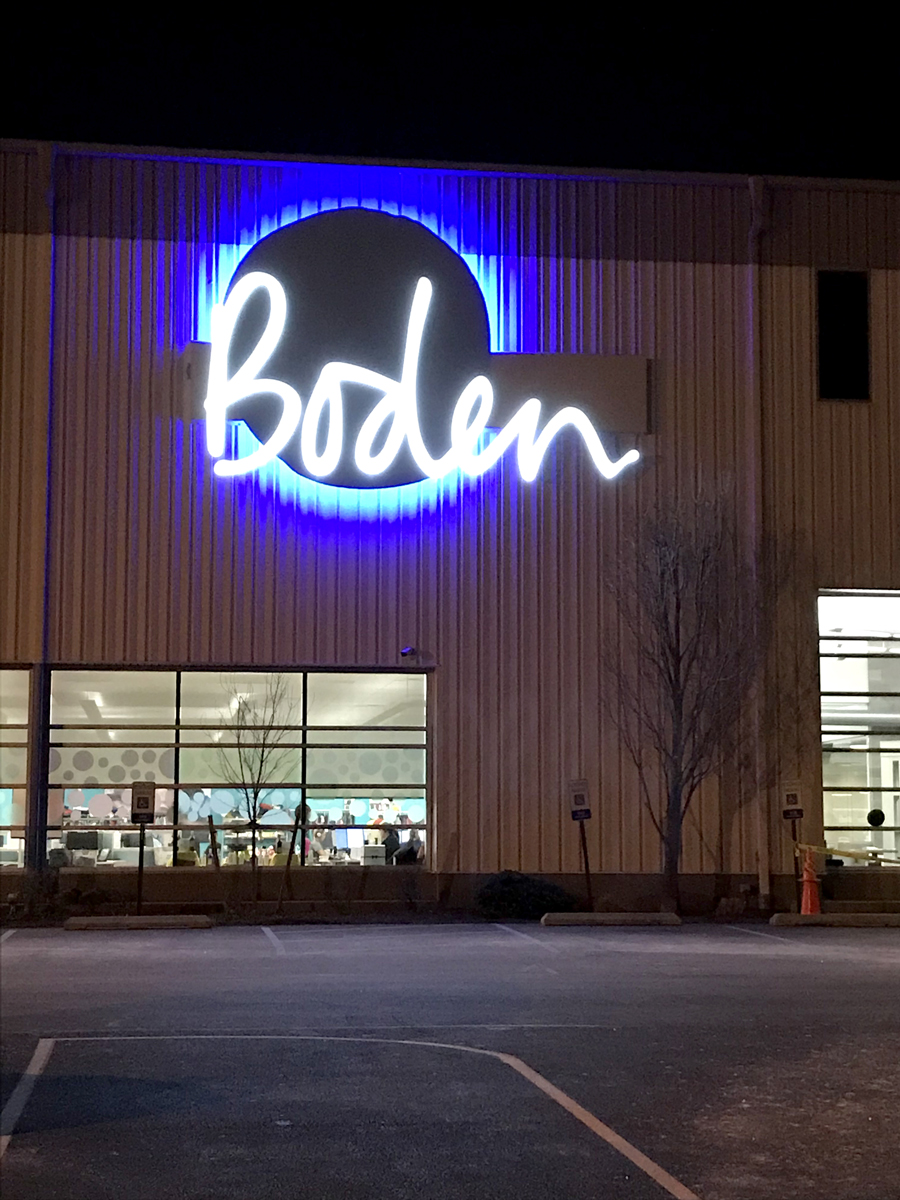 Widmer took second place as well with this sign for Boden.