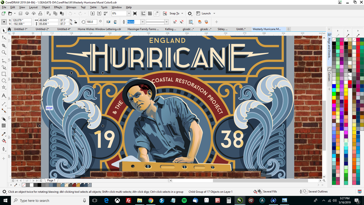 Joe Diaz and the team at Diaz Sign Art use CorelDRAW for their sign projects – including murals – an example of sign design software linking the old and the new.