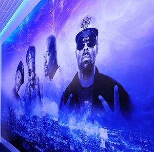 Gamut's most famous client is the rapper Snoop Dogg, who commissioned Yu and his team to produce wall murals for his compound in Inglewood, CA. (First 4 photos.)