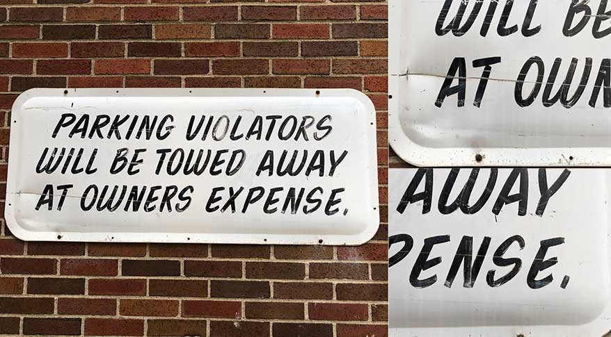 Hand-lettered signs are still out there; you just have to look.