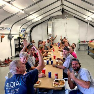 A crew lunch keeps employees happy and feeling appreciated.
