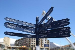 Signposts from around the world bridge the gap between direction and decoration.