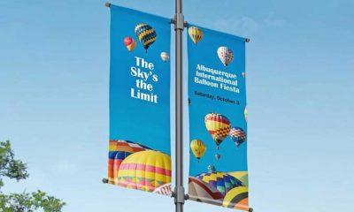 HP 15-oz Prime Double-sided Blockout Banner and HP 18-oz Prime Double-sided Pole Banner are compatible with HP Latex, low-solvent and UV-curable inks.