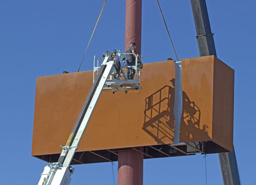 installation of large, heavy signs