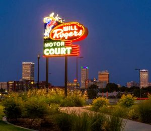 Three reproduced neon signs recently debuted along Route 66 in Tulsa, OK.