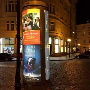 American cities don't have embedded poster infrastructure, such as the ubiquitous backlit kiosks of Europe, but a little creativity, and a lot of posters, can transform any urban setting.