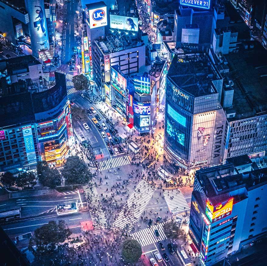 Tokyo's Shibuya Crossing invokes mixed-use magic.