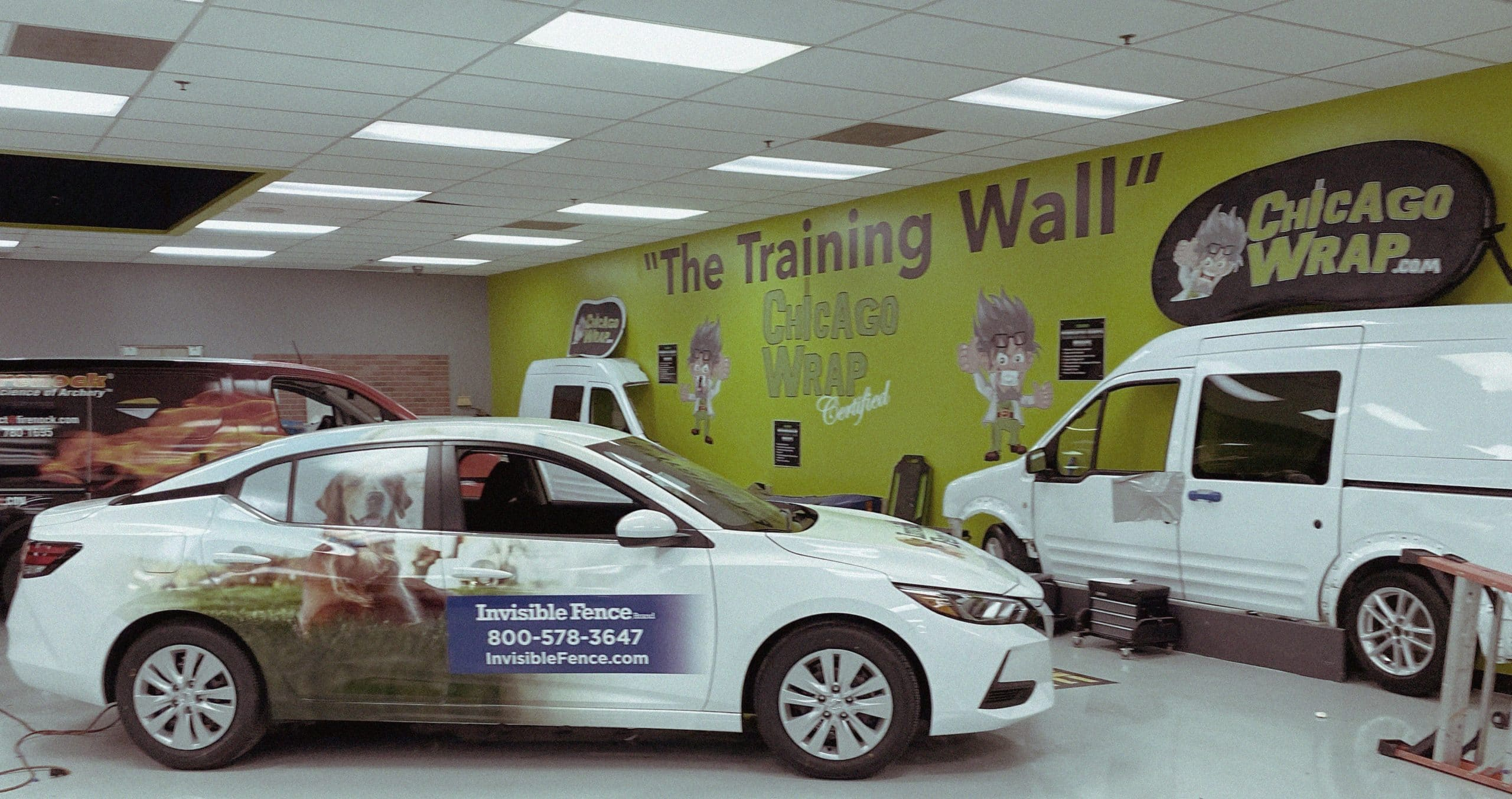 Heffner's course allows graduates to return after completing the two-week training to wrap their own vehicle or their first customer's.