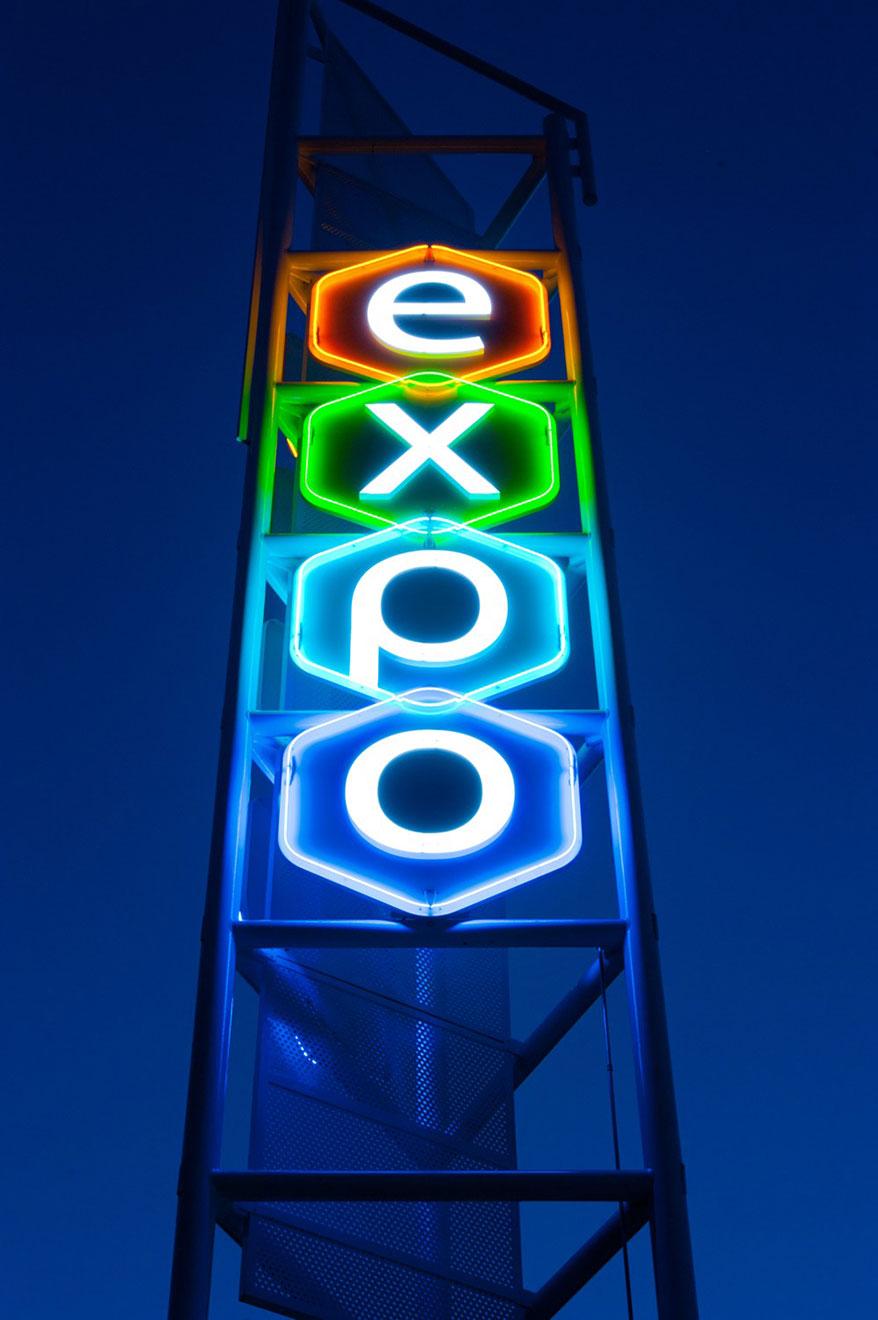 expo neon lights