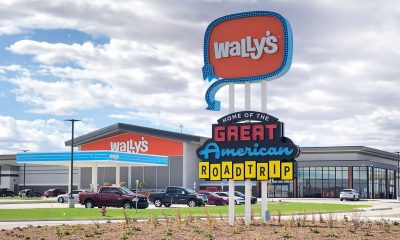 Wally's welcome sign