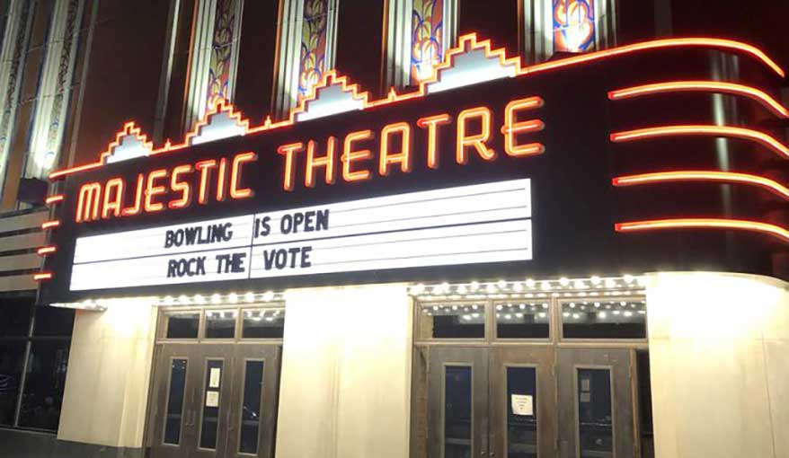 Detroit's Majestic Theatre Marquee Recreated by Spectrum Neon Co.
