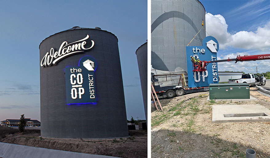 CND Signs Produces Signage for the Hutto Co-Op District