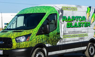 Palmer Signs' replication of reptile skin on vehicle