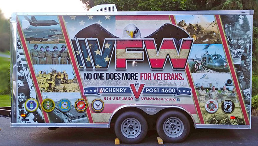 wrap for a local VFW branch