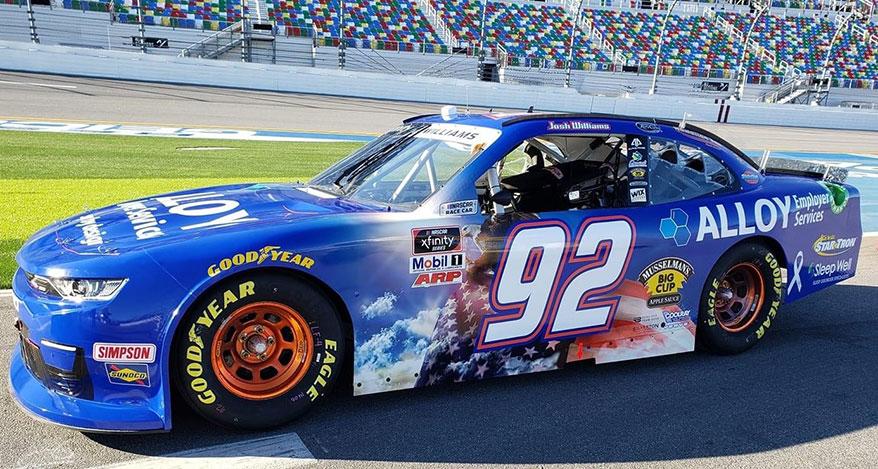 Josh-Williams-92-Xfinity-Driver-Car-wrapped-with-GF-230_GF-242-Laminate