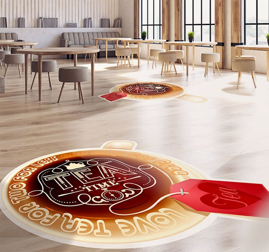 Floor media can be used to describe a product or service, or to convey information, and typically last for 3-4 months. However, the application must be textured to avoid slips.