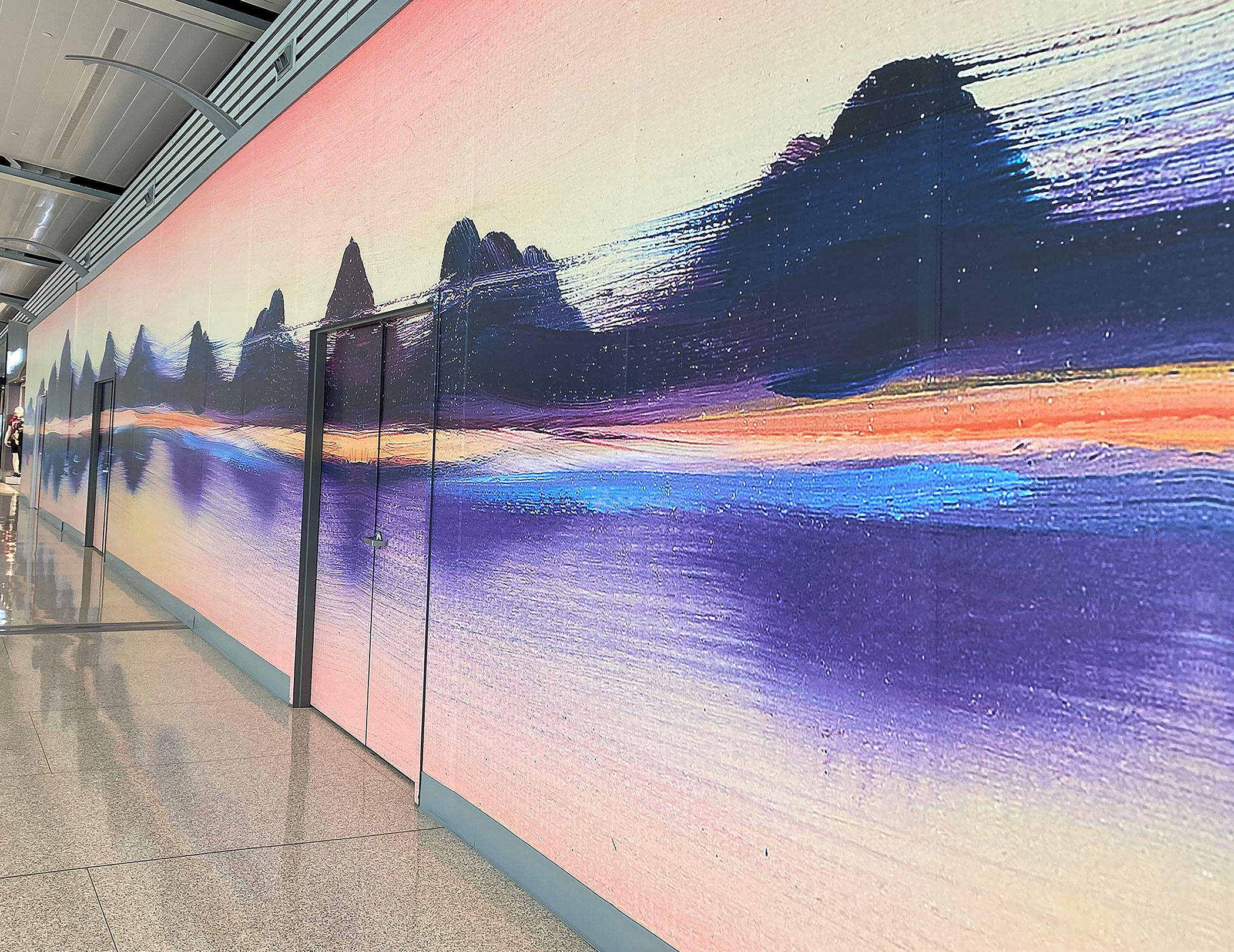 Indianapolis-area artist Morgan Jefferson designed this mural printed by Repro Graphix.