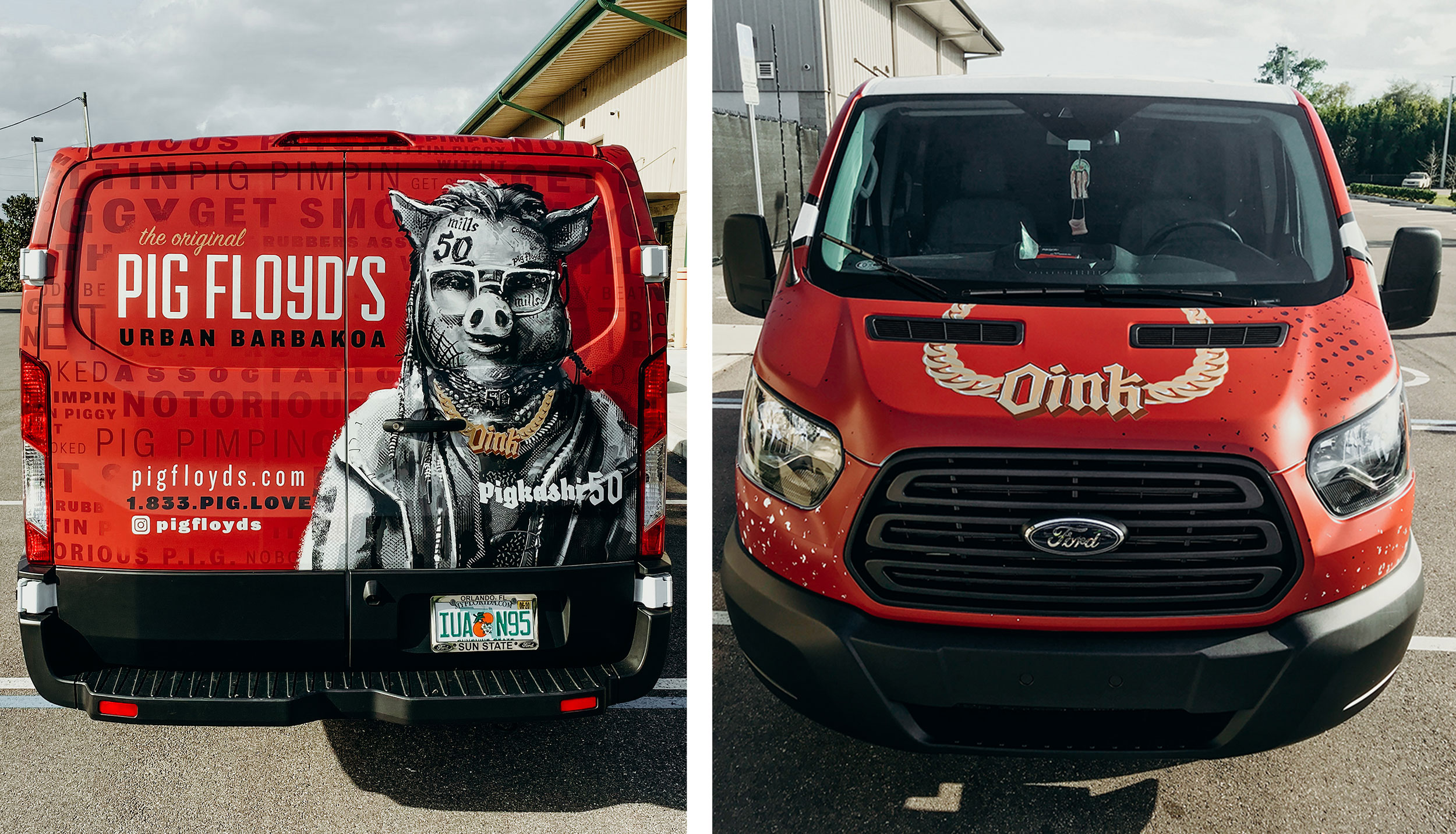 K Fresh Ink Signs + Graphics (Orlando, FL) designed this vehicle wrap for Pig Floyd's Urban Barbakoa, and then printed the graphic on its Roland DGA machine. Photos by Vanessa Boy.