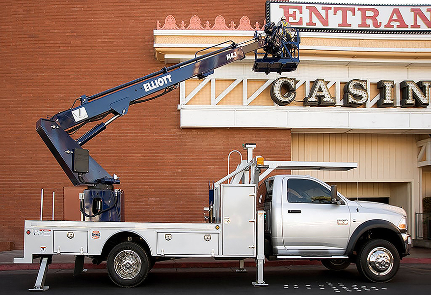 Boom trucks are a worthy investment for a signshop, but be sure to do your homework in finding the proper fit.