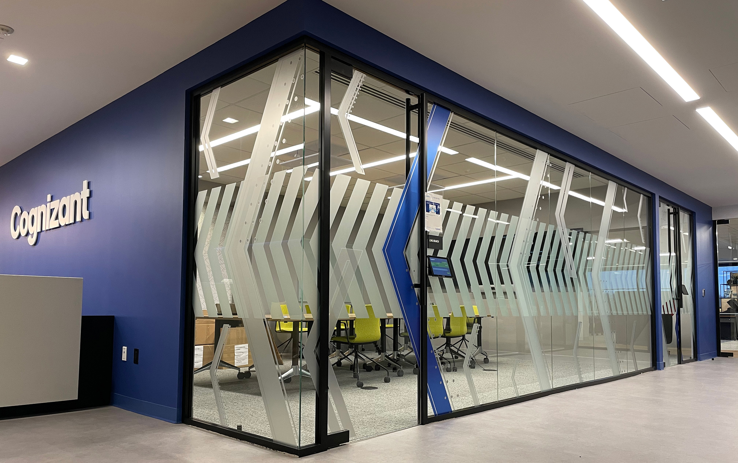 Cognizant ordered wall, glass and column wraps for its newly constructed northern New Jersey office.
