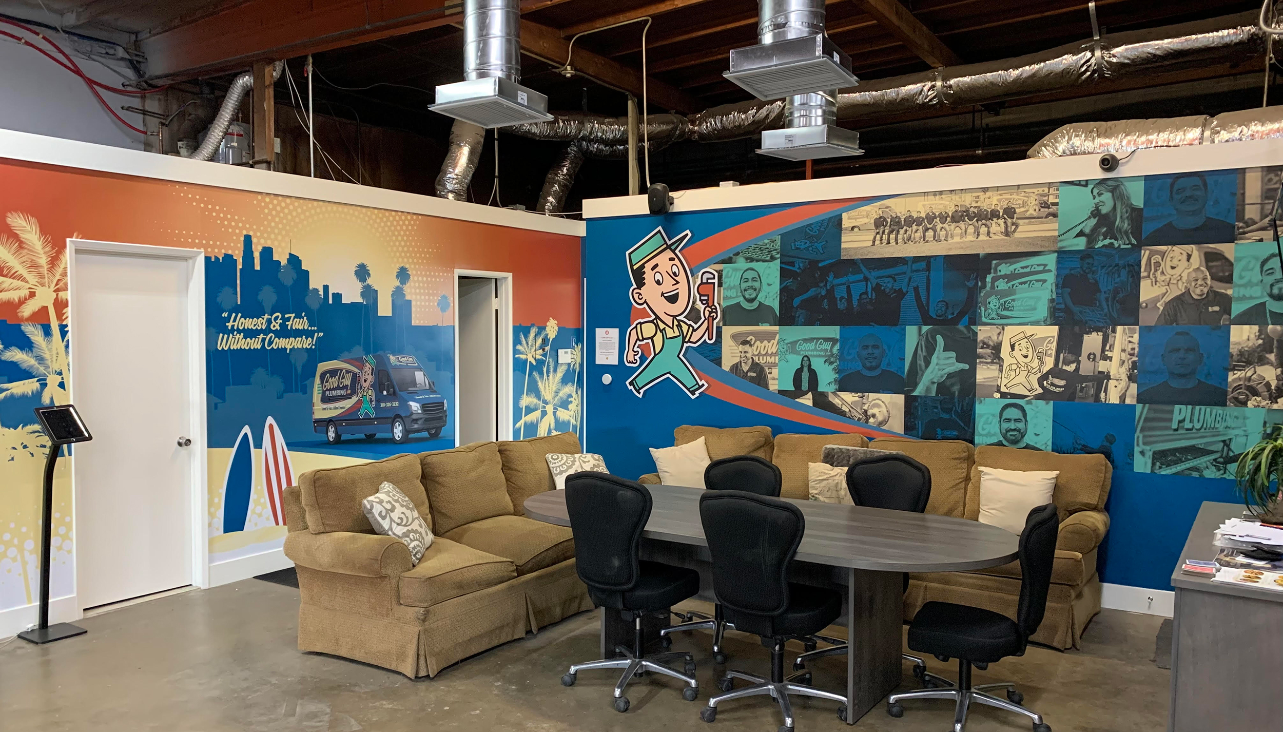 KickCharge's own office inspried client Seatown to wrap their conference and break rooms.